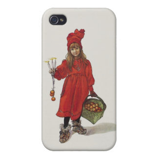 Brita as Iduna Little Swedish Girl Carl Larsson Cover For iPhone 4