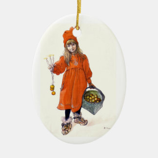 Brita as Iduna Double-Sided Oval Ceramic Christmas Ornament