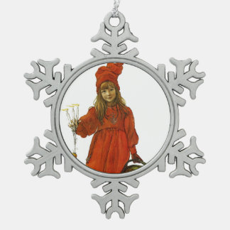 Brita as Iduna Snowflake Pewter Christmas Ornament