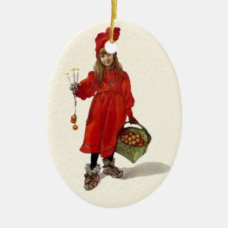 """Brita as Iduna"" Swedish Christmas by C. Larsson Ceramic Ornament"