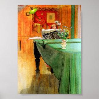 Brita at the Piano by Carl Larsson Poster