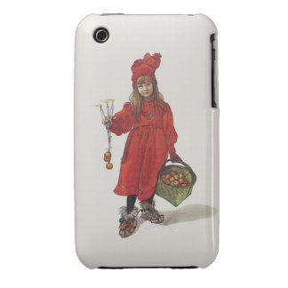 Brita como pequeño chica sueco Carl Larsson de iPhone 3 Case-Mate Protector