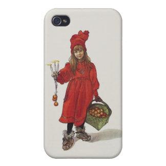 Brita como pequeño chica sueco Carl Larsson de iPhone 4/4S Funda