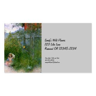Brita en el macizo de flores tarjetas de visita