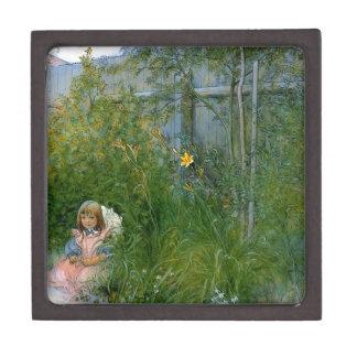 Brita en la cama de flor c1897 caja de recuerdo de calidad