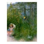 Brita en la cama de flor c1897 postal