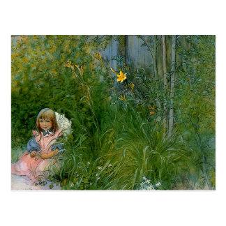 Brita en la cama de flor c1897 postales