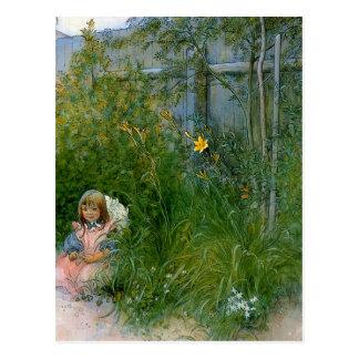 Brita en la cama de flor c1897 tarjeta postal