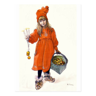 Brita (Iduna) with Candles and  Apples Postcard
