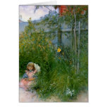 Brita in the Flower Bed c1897 Greeting Card