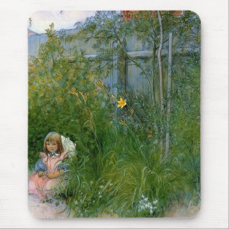 Brita in the Flower Bed c1897 Mouse Pad