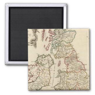 Britain 2 Inch Square Magnet