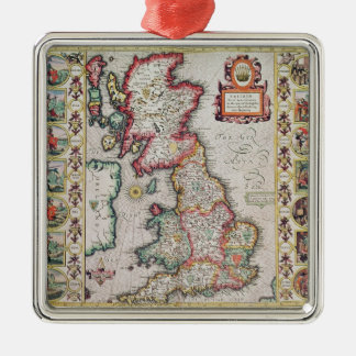 Britain As It Was Devided In The Tyme Metal Ornament