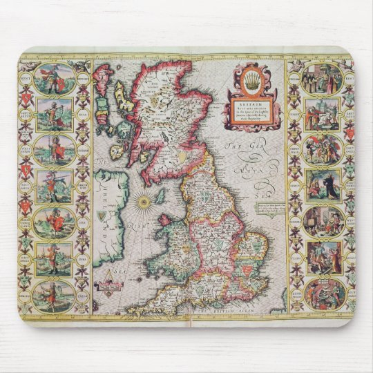 Britain As It Was Devided In The Tyme Mouse Pad