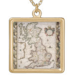 Britain As It Was Devided In The Tyme of the Engli Custom Necklace
