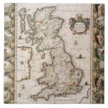 Britain As It Was Devided In The Tyme of the Engli Ceramic Tiles