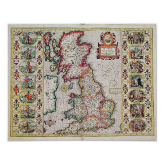 Britain As It Was Devided In The Tyme Poster