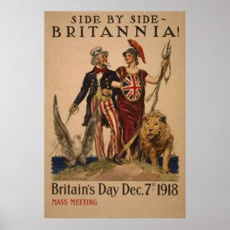Britain Day 7 dec 1918 vintage Poster