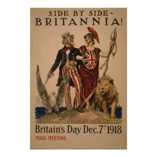 Britain Day 7 dec 1918 vintage Poster