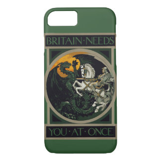 Britain Needs You At Once Knight & Dragon iPhone 8/7 Case