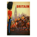 Changing of the guard, London travel poster