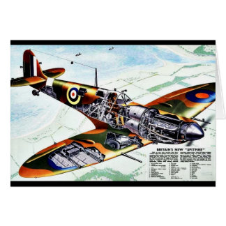 Britain s New Spitfire Greeting Cards