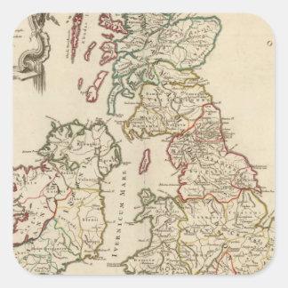 Britain Square Sticker