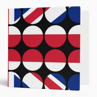 Britain Stylish Girly Chic Polka Dot British Flag Binder