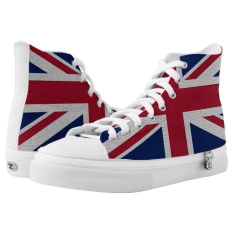 Britain Union Jack Flag High-Top Sneakers