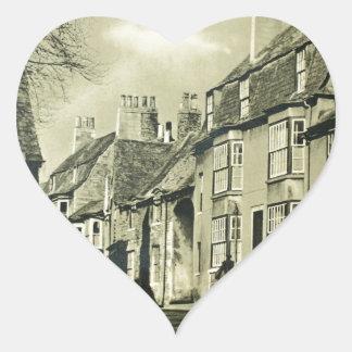 Britain - Vintage Travel Poster Heart Sticker