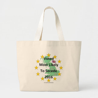 Britain Voted Most Likely to Secede 2016 White Large Tote Bag