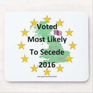 Britain Voted Most Likely to Secede 2016 White Mouse Pad