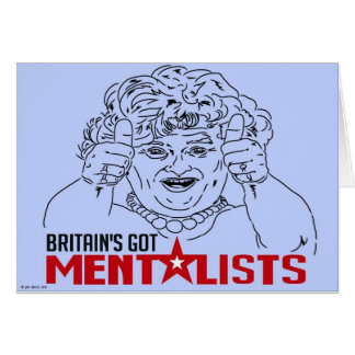 BRITAIN'S GOT MENTALISTS! GREETING CARD