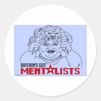 BRITAIN'S GOT MENTALISTS! ROUND STICKERS