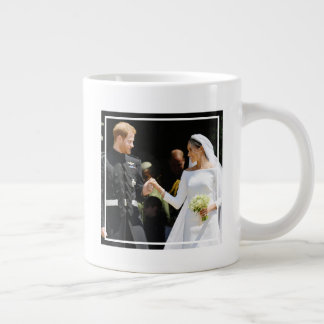 Britain's Prince Harry Duke of Sussex and his Wife Giant Coffee Mug