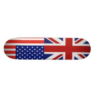 británico-bandera, nosotros-bandera patineta personalizada