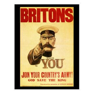 Británico le quieren, kitchener del señor postal
