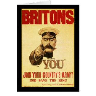 Británico le quieren, kitchener del señor tarjeta de felicitación