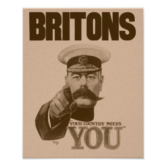 Británico su país le necesitan - señor Kitchener Poster