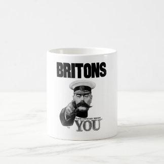 Británico su país le necesitan - señor Kitchener Tazas De Café