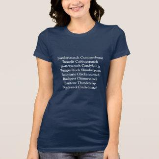 Británicos agrietan, nombre confuso camiseta