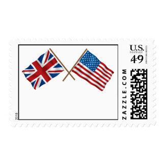 Británicos americanos 3 franqueo