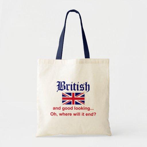 Británicos apuestos bolsa tela barata