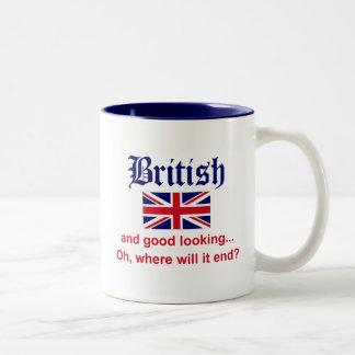 Británicos apuestos taza de dos tonos