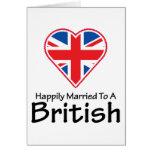 Británicos feliz casados felicitacion