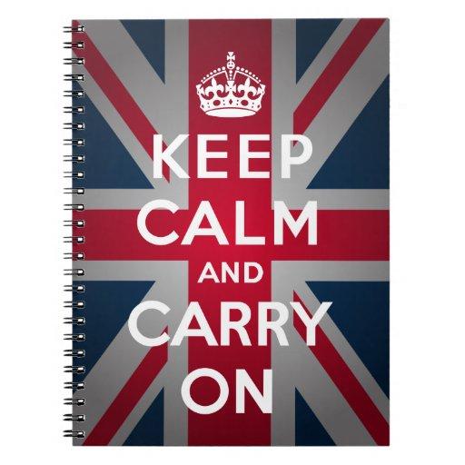 Británicos guardan calma para llevar el cuaderno e