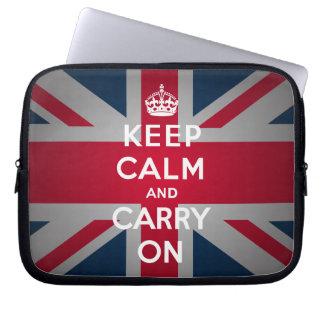 Británicos guardan calma para llevar la funda prot funda portátil