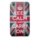 Británicos guardan el caso tranquilo del iPhone iPhone 3 Case-Mate Protectores
