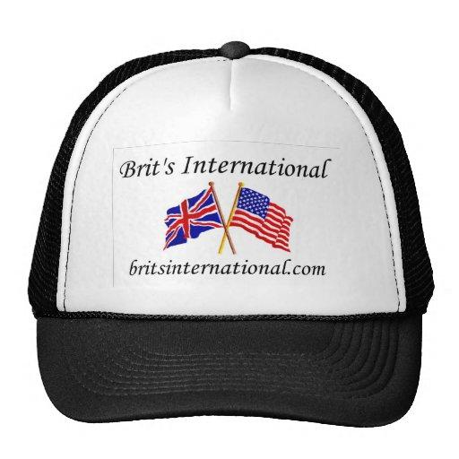 Británicos internacionales en blanco gorro de camionero