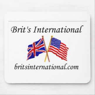 Británicos internacionales en blanco tapete de ratones
